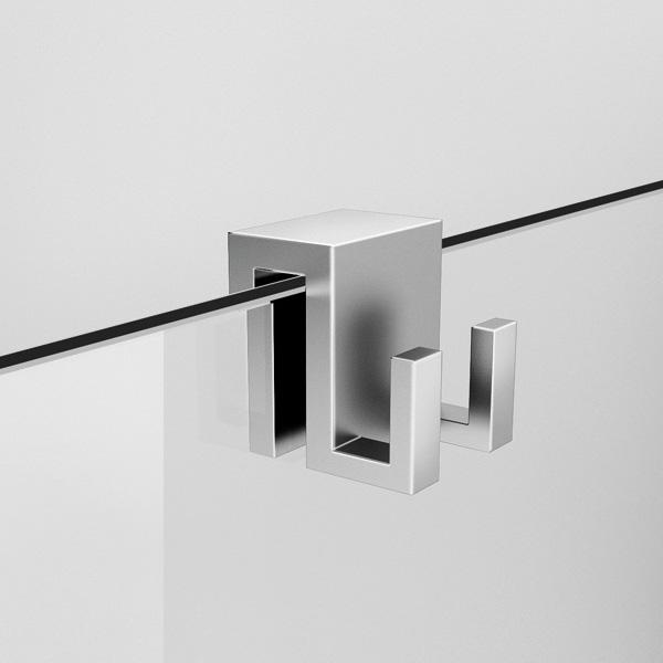 crochet pour la porte de douche leblanc r no tendance. Black Bedroom Furniture Sets. Home Design Ideas