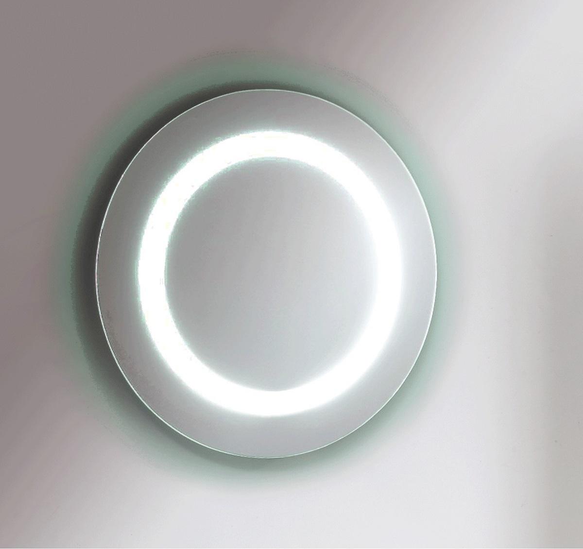 m36 miroir rond avec lumi re leblanc r no tendances. Black Bedroom Furniture Sets. Home Design Ideas
