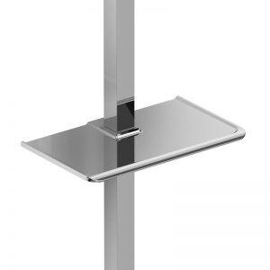 Porte-savon pour rail de douche carré
