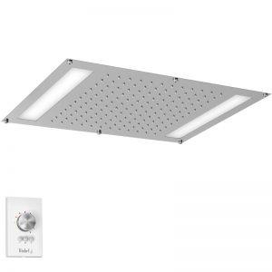 """Tête de douche encastrée 42 cm X 56 cm (22"""" x 16 ½"""") avec lumière DEL"""
