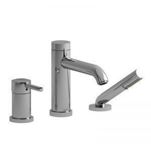 Robinet de bain 3 morceaux Type P (pression équilibrée) avec douchette PEX