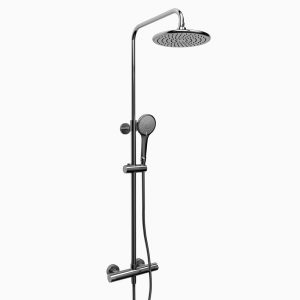 Rail de douche Duo avec Barre Type T (thermostatique) externe ½""