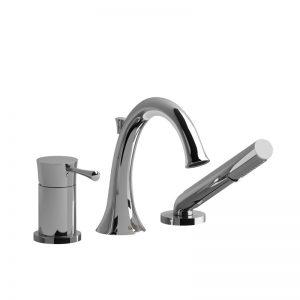 Robinet de bain 3 morceaux Type P (pression équilibrée) avec douchette PEX EXPANSION