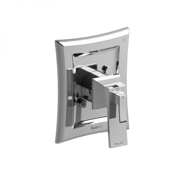 Valve complète 3 voies coaxiale Type T/P (thermostatique/pression équilibrée)