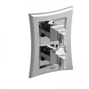 Valve complète 4 voies non-partagées coaxiale Type T/P (thermostatique/pression équilibrée)