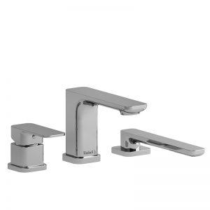 Garniture de robinet de bain 3 morceaux avec douchette
