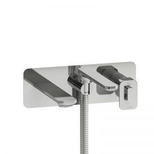 Robinet de bain mural coaxial Type T/P (thermostatique/pression équilibrée) avec douchette
