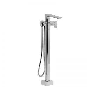 Garniture de robinet de bain fixé au sol coaxial 2 voies Type T (thermostatique) avec douchette